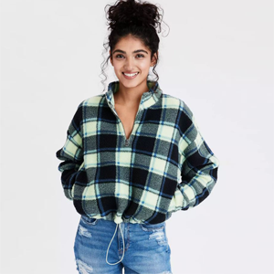Sherpa Plaid Sweatshirt