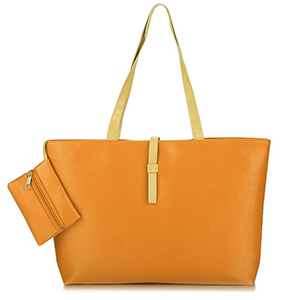 Synthetic Leather Shoulder Tote