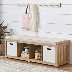 4-Cube Organizer Bench