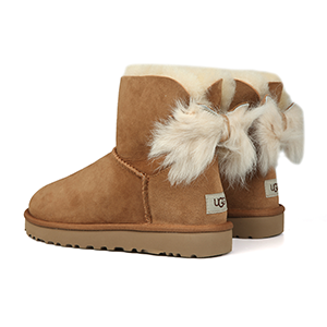 UGG Fluff Bow Suede Boots