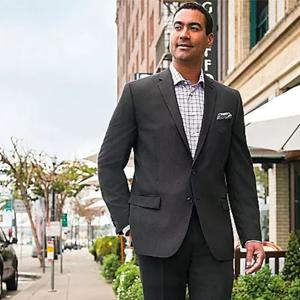 Slim Fit Suit Coat