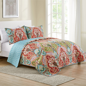 Reversible Jeweled Quilt