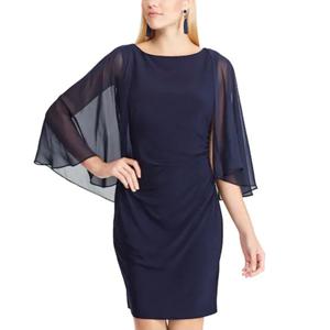 Cape Sheath Dress