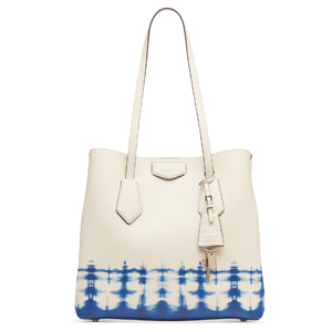 Tie-Dyed Leather Tote