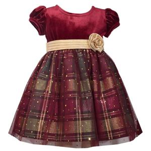 Velvet Plaid Dress