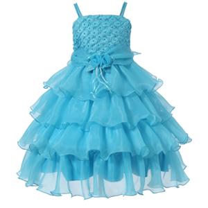 Rosette Tiered Dress
