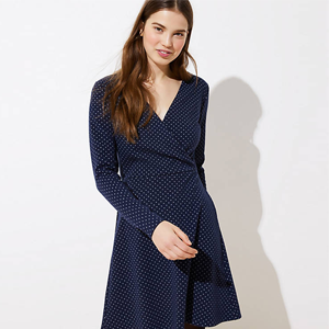 Jacquard Knit Wrap Dress