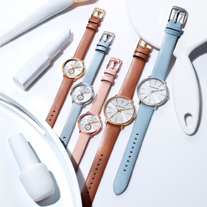 Portia Blush Leather Strap Watch