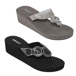 Women's Mixit Wedge Flip-Flops – JCPenney