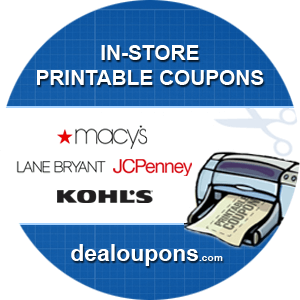 In Store Printable Coupons