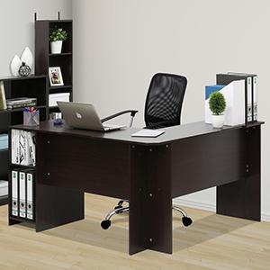 Indo Espresso L-Shaped Desk